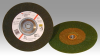 3M Green Corps Ceramic Depressed-Center Wheel - 24 Grit Very Coarse Grade - 7 in Diameter - Thickness 1/4 in - 55958 -- 051111-55958