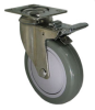 Stainless Swivel Caster with Total Locking Brake - Model 3A -- SS-3AGP4-SML