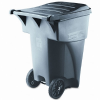Brute Rollout Heavy-Duty Waste Container, Square, Polyethyle -- 9W2200