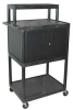 Workstation,Mobile,32 Wx54 Hx24 D In,Blk -- 3KLN8