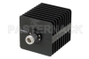 25 Watt RF Load Up to 18 GHz With N Female Input Square Body Black Anodized Aluminum Heatsink -- PE6037 -- View Larger Image