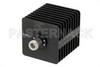 25 Watt RF Load Up to 18 GHz With N Female Input Square Body Black Anodized Aluminum Heatsink -- PE6037 -Image