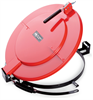 PIG Latching Drum Lid for Poly Drum Red For Plastic Drums, For 30 gal., Fast Connecting Latching & Locking Drum Lids DRM1085-RD -- DRM1085