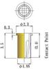 Thru Hole Short type, Round Socket Pin -- CM1-F23L35-GG - Image