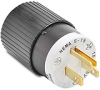 15A Electrical Plug: straight blade, 125VAC, NEMA 5-15 -- BRY5266NP