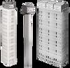 Quartz Single or Triple Over the Side Heater -- QM/QM3