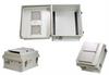 14x12x7 Inch Weatherproof NEMA 3R Vented Enclosure-DIN Mounting Rails -- NB141207-00VDR -Image