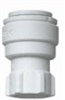 Push-to-connect faucet connector, polypropylene, 3/8