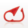 Pinch Clamp, Red -- 14066 -Image