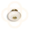 JGE #3822 Antique English / White Knob