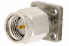 SMA Male Connector Field Replaceable Attachment 4 Hole Flange 0.020 inch Pin, .375 inch Flange Size -- PE44008 -Image