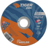 Weiler TIGER Zirconia Alumina Cutting Wheel - Type 1 - Straight Wheel - 5 in Diameter - 7/8 in Center Hole - Thickness.045 in - 58001 -- 012382-58001 - Image