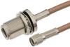 Reverse Polarity SMA Male to N Female Bulkhead Cable 24 Inch Length Using RG142 Coax -- PE34575-24 -Image