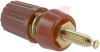 Binding Post; Insulated Binding Post; Gold; Molded Polycarbonate; Red; -- 70210268