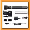 Flashlight and Charger Kit Black Aluminum and Tempered Glass Lens -- 03873906001-1