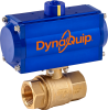 Pneumatically Actuated Brass Valve -- PHH Series -Image