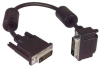 DVI-D Dual Link LSZH DVI Cable Male / Male Right Angle, Top 1.0 ft -- MDA00044-1F -Image