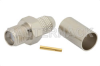SMA Female Connector Crimp/Solder Attachment For RG59, RG62 -- PE4326 -Image