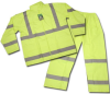 3 piece safety green rain suit
