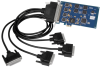 PCI Express 4-Port RS-232, RS-422, RS-485, RS-530, RS-530A, V.35 Synchronous Serial Interface (uses Z85230) -- 5402e