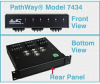 DB9 6-to-1 Switch with Contact Closure Remote -- Model 7434 -Image