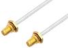 SMA Female Bulkhead to SMA Female Bulkhead Cable 48 Inch Length Using PE-SR402FL Coax -- PE33864-48 -Image