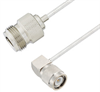 N Female to TNC Male Right Angle Cable Assembly using LC085TB Coax, 4 FT -- LCCA30585-FT4 -Image