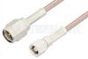 SMA Male to SMC Plug Cable 72 Inch Length Using RG316 Coax, RoHS -- PE3809LF-72 -Image