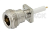 N Female Connector Solder Attachment 4 Hole Flange Mount Pin Terminal, .340 inch Hole Spacing -- PE4355 -Image