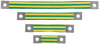 Grounding : Bonding Straps/Bonding Jumpers : Flat Braided Bonding Strap -- BS100445 - Image