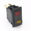 SPDT On-Off-On Rocker Switch, one amber, one red pilot, independent & independent illumination -- 58328-35