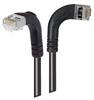 Category 5E Shielded LSZH Right Angle Patch Cable, Right Angle Right/Right Angle Down, Black, 30.0ft -- TRD815SZRA10BLK-30 -Image