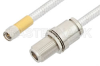SMA Male to N Female Bulkhead Cable 18 Inch Length Using PE-SR401FL Coax, RoHS -- PE34163LF-18 -Image