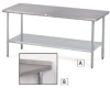 Economical Type 430 Stainless Steel Worktables -- 5597602