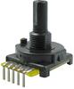 510 Series mechanical encoder, 2-bit: 16 cycles per revolution, 16 detents/revolution, PC type B-110 terminals -- 510E1A48F416PB - Image