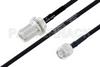 MIL-DTL-17 N Female Bulkhead to TNC Male Cable 100 cm Length Using M17/84-RG223 Coax -- PE3M0050-100CM -Image