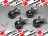 HAMMOND MANUFACTURING 1425BM ( (PRICE/PK OF 4) CASTER, 700LB, 3IN, BALL BEARING; FOR USE WITH:DNRR_LDW, DNRR_LDK, DNRR_DCK, C2; CARRYING CAPACITY:700LB; WHEEL DIAMETER:3; PRODUCT RA ) -Image