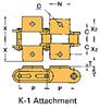 Double Pitch Conveyor Lambda Chain Attachment -- C2040-LAMBDA-K-1 - Image
