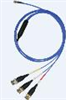 4-conductor, low noise, shielded FEP cable, 30-ft, mini 4-socket plug to (3) BNC plugs (labeled X, Y, Z) -- 034K30 -Image