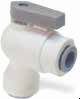 LIQUIfit Polypropylene Ball Valves -- VEU - Valve Elbow Union - Image