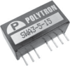 DC-DC Converter, 3 Watt Single and Dual Output Regulated Wide Input, 2:1 -- SWA3