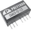 DC-DC Converter, 3 Watt Single and Dual Output Regulated Wide Input, 2:1 -- SWA3 -Image
