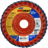 Norton Red Heat Flap Disc Quick Trim Type 27 -- 63642505281 -Image