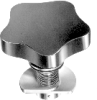 Latch Type Plastic Lobe Knob -- Model 33881 - Image