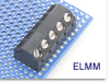 Angled Fixed Terminal Block -- ELMM Angled Modular Series -- View Larger Image