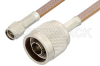 SMA Male to N Male Cable 12 Inch Length Using RG400 Coax -- PE3614-12 -Image