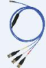 4-conductor, low noise, shielded FEP cable, 10-ft, mini 4-socket plug to (3) BNC plugs (labeled X, Y, Z) -- 034K10 -Image