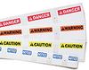 ANSI Sign Header Supply Cartridge (B-580; Black on Orange; ANSI Header; WARNING; English) -- 754476-64604