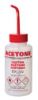 Venting Multi-Language Labeled Safety Wash Bottle, LDPE, Acetone, 500 mL 5/pk -- GO-62300-91