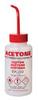 Venting Multi-Language Labeled Safety Wash Bottle, LDPE, Ethanol, 500 mL, 5/pk -- GO-62300-93